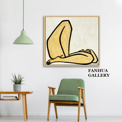 C - R - A - Z - Y - T - O - W - N 常玉曲腿裸女裝飾畫抽象人體掛畫現代簡約客廳房間臥室床頭掛畫時尚精品旅館裝飾畫藝術美學空間版畫