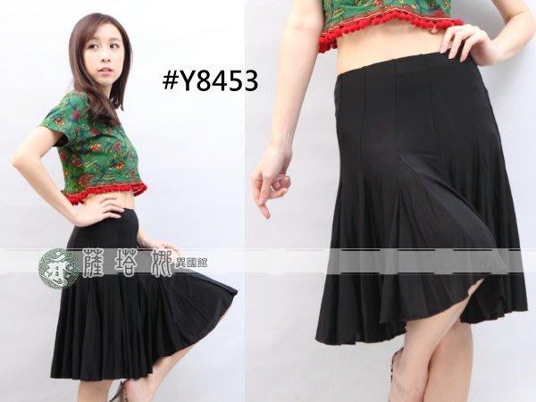 @_薩瓦拉 :Y8453_黑色素面插布短裙
