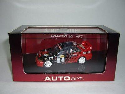 AUTOart廠牌 1:43 MITSUBISHI LANCER EVOLUTION VI WRC 99【台中AUTO勁車】