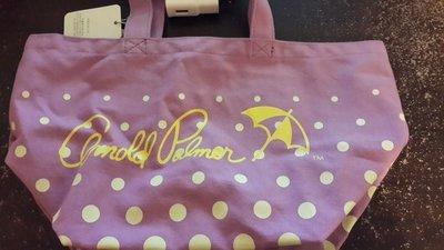 (16)雨傘牌Arnold Palmer紫色帆布托特包 手拿包 吊牌未拆 新北市