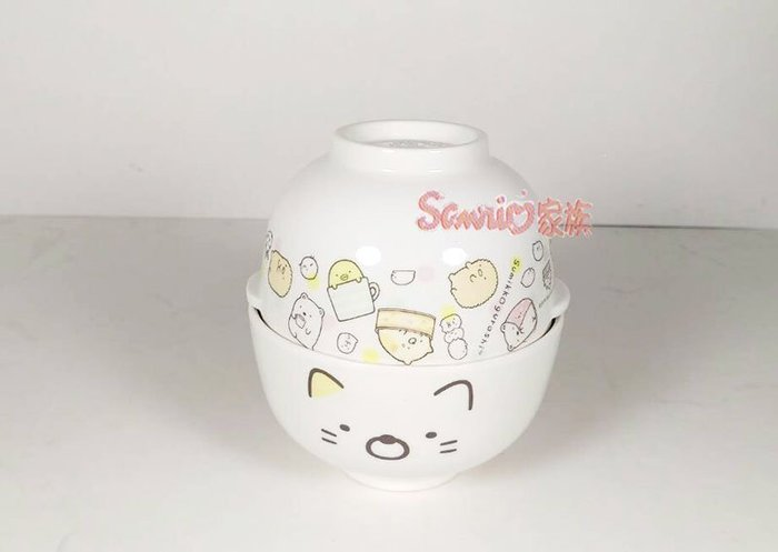 《東京家族》角落生物 貓咪 玩樂 茶碗湯碗飯碗組附蓋盒裝