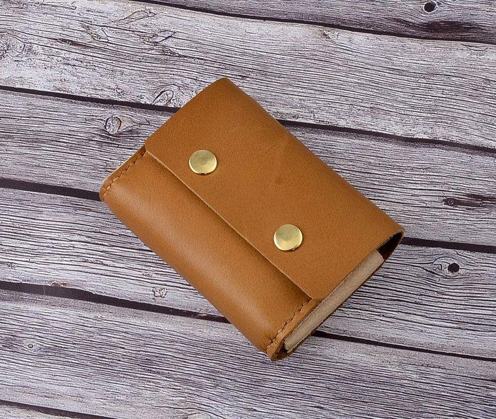 U6.JP6手工皮件-手縫製進口牛皮-簡易錢包(男女適用)
