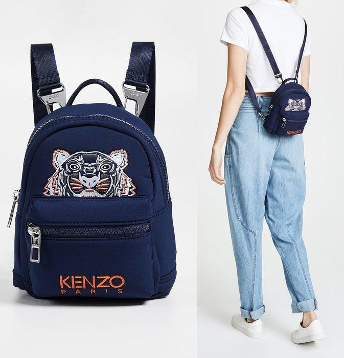 ◎美國代買◎KENZO Mini 可愛虎頭刺繡裝飾kenzo品牌迷你款後背包~揹帶可拆