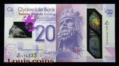 【Louis Coins】B1343-SCOTLAND-2019蘇格蘭塑膠鈔 20 Pound(2)