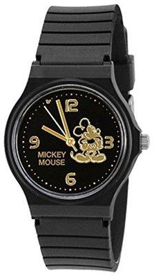 日本進口 迪士尼 米老鼠手錶 米奇 米妮 黑色 小G日代