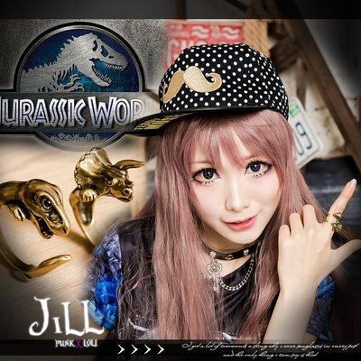 Oo吉兒oO日系原宿輕龐克 可調式侏儸紀世界造型戒指 兩款 PUNK 【JK6005】