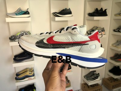 全新 Sacai x Nike Vaporwaffle 白紅 聯名 US7-12