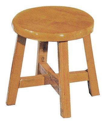 【浪漫滿屋家具】(Gp)604-7 8.5吋小古椅(柚木色)