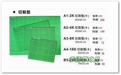 @幸運草文具@ 〔B5-25K〕實用型切割墊板/  切割板(台灣製造,19x23cm,厚度3mm) 台中市
