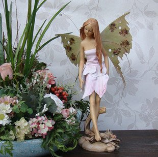 INPHIC-歐式田園 裙子花仙子 天使 高貴典雅樹脂擺飾擺設 裝飾品