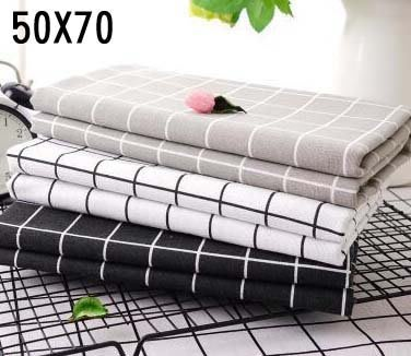 【批貨達人】北歐簡約棉麻桌布 (140X160) 田園格子布藝餐桌布 拍照背景布