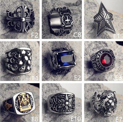 男士戒指 送男友 首飾搭配 朋克風歐美個性民族風鈦鋼潮人戒指男士復古霸氣時尚單身食指環