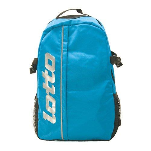利卡夢鞋園 - LOTTO 經典後背包 輕便背包 休閒登山背包 藍 B7006