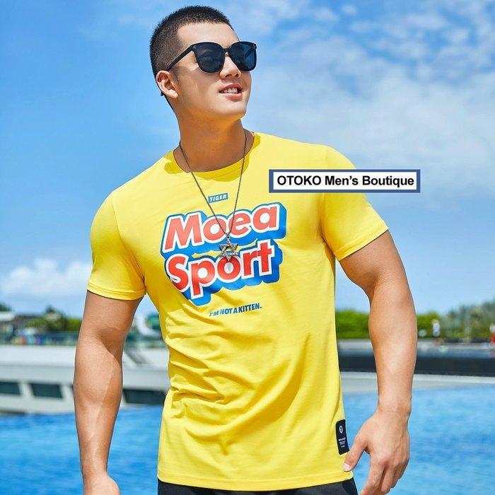 【OTOKO Men's Boutique】MOEA墨立方:SPORT休閒TEE/黃色(台灣獨家代理)