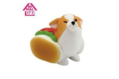 【QQ公仔物語】【NB012】【現貨】 Animal Life 柯基的日常盒玩 Corgi 單賣 熱狗款 滿千免運