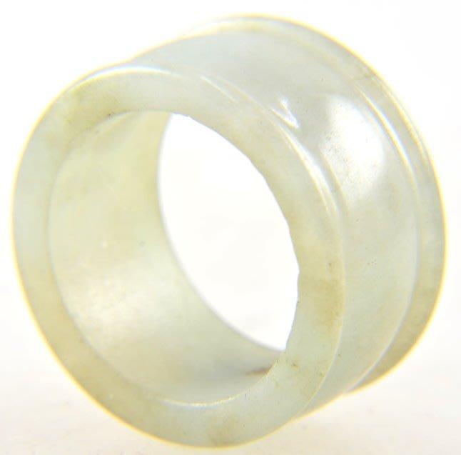 (六四三精品)全天然冰糯A貨緬甸玉板指戒指