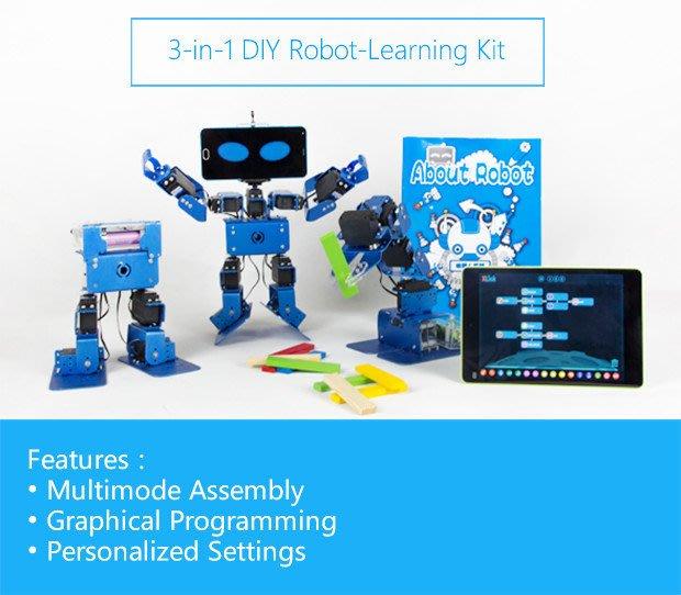 【創客 maker】 IRONBOT 家庭兒童教育可編程機器人DIY套件 手機 平板操控 (玩具 非Arduino )