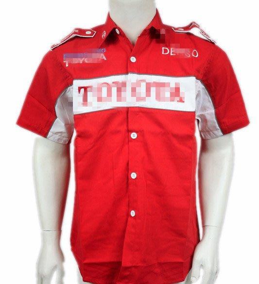 【運動吧】 F1賽車服汽車車隊賽車服 裝短袖襯衫機車服C050 oranre/black