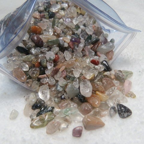 【競標網】精選天然漂亮異象水晶碎石塊1000克裝(回饋價便宜賣)限量10組(賣完恢復原價250元)