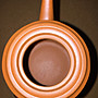 早期紫砂壺—紅柱款式,宜興一廠作品,泥料:小紅泥,7孔出水,空壺容量約130CC