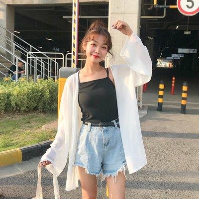 襯衫 蕾絲衫雪紡衫夏裝新款韓版女裝寬松長袖衫衣薄款防曬衣外套開衫上衣