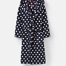 現貨【PINK】 Joules 水玉點點連帽睡袍外套 RITA FLUFFY DRESSING GOWN