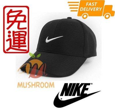 全新 NIKE GOLF 棒球帽 魔鬼氈 帽子 老帽 遮陽 運動帽 高透氣 高爾夫球 基本 黑色 (黑貓宅配)