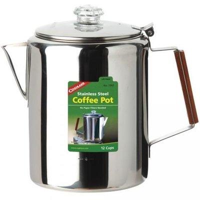 大營家購物網~Coghlans #1342 不鏽鋼咖啡壺 12杯 Stainless Steel Coffee Pot 12 Cup