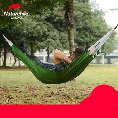 NH挪客戶外露營秋千吊床 降落傘布單人雙人休閒吊床 便攜輕便收納