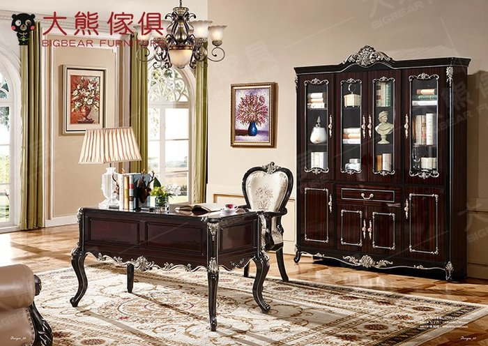 【大熊傢俱】QY8801 休閒椅 長桌 餐椅 書椅 椅子 餐桌椅組 歐式餐台桌子 實木餐 美式鄉村風 靠背椅 餐桌
