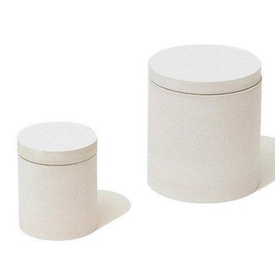 日本 soil 圓形 珪璪土 食材罐(大) - 白色