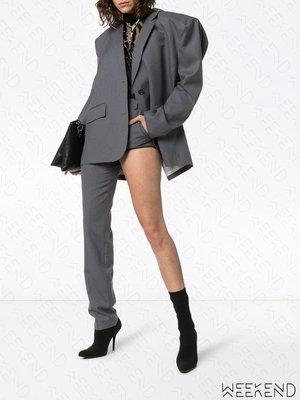 【WEEKEND】 PUSHBUTTON 不對稱 特殊褲型 長短褲 灰色 折扣