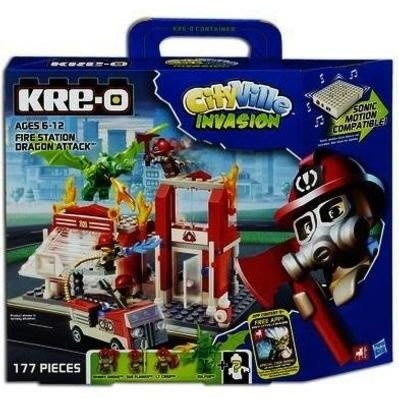台中**宏富玩具**KRE-O 積木組 城市小鎮系列FIRE STATION DRAGON ATTACK