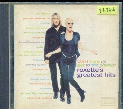 *還有唱片行* ROXETTE/ DON'T BORE US GET TO THE CHORUS 二手 Y3726