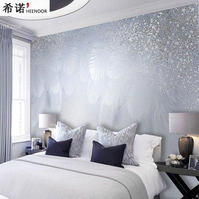 佩奇壁纸北歐ins風現代簡約浪漫紫色溫馨羽毛壁紙沙發臥室背景墻紙壁畫布小猪佩奇