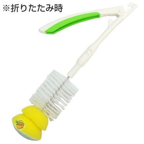 【JPGO日本購】日本製 摺疊式 超級細纖維海綿尼龍刷.奶瓶刷.杯刷 #550