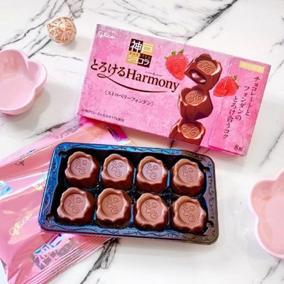 ~現貨,現貨,現在下單立馬出貨~GLICO格力高🍫神戶焙烤香濃草莓巧克力 8粒入