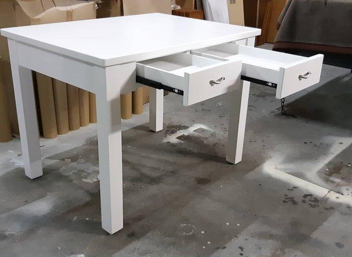 美生活館 鄉村全紐松原木 純白色 雙抽 書桌 工作桌 寫字桌 秘書桌 美甲桌 家具訂製 客製化 鄉村家具傢俱家具
