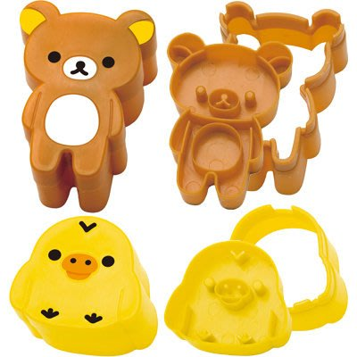 ♡fens house♡日本進口Rilakkuma 懶懶熊 小雞 造型 吐司 餅乾 壓模 吐司壓模