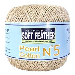 棉線編織SOFT FEATHER Pearl N°5珍珠棉線~手工藝材料、編織工具、進口毛線、蕾絲線、棉線☆彩暄手工坊☆