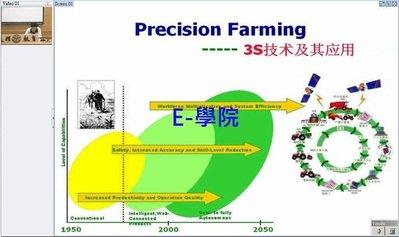 【農-021】精密農業基礎(Precision Farming, 3S技術及應用) 教學影片 / 32 講, 320 元!
