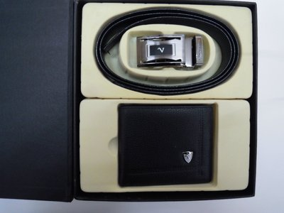 #1218 【Emilio Valentino 范倫鐵諾】牛皮自動皮帶皮夾禮盒 生日 結婚禮的最佳禮物【霈錡皮飾館】