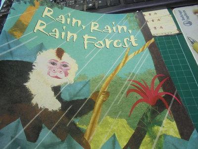 英文閱讀繒本原文rain,rain,rain forest伅編52美美書房