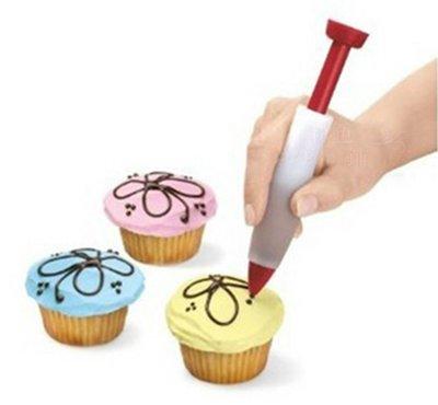 *水蘋果* C-015 矽膠巧克力筆 食品寫字筆 蛋糕筆 裱花筆 奶油筆 蛋糕 裝飾工具 烘培用品