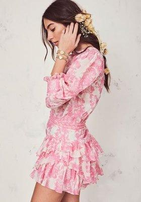 美國品牌LOVE SHACK FANCY印花宮廷風格洋裝