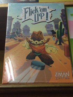 Flick'em Up 荒野大彈客 繁體中文版 正版桌遊 (內容物皆為塑膠製)特價一組