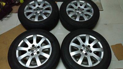 GOLF原廠15吋5孔112鋁圈A3--A4--T4--福斯--GTI--JETTA--PASSAT--TDI--VW-