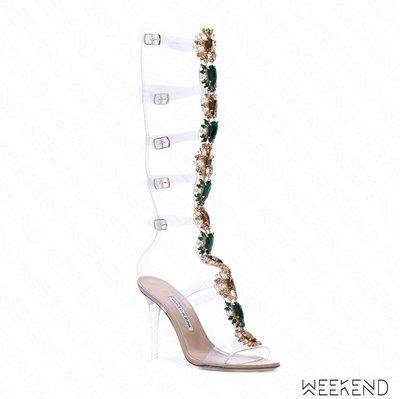 【WEEKEND】 MANOLO BLAHNIK x Rihanna 聯名 Poison Ivy 鑲鑽 高跟涼鞋 羅馬鞋