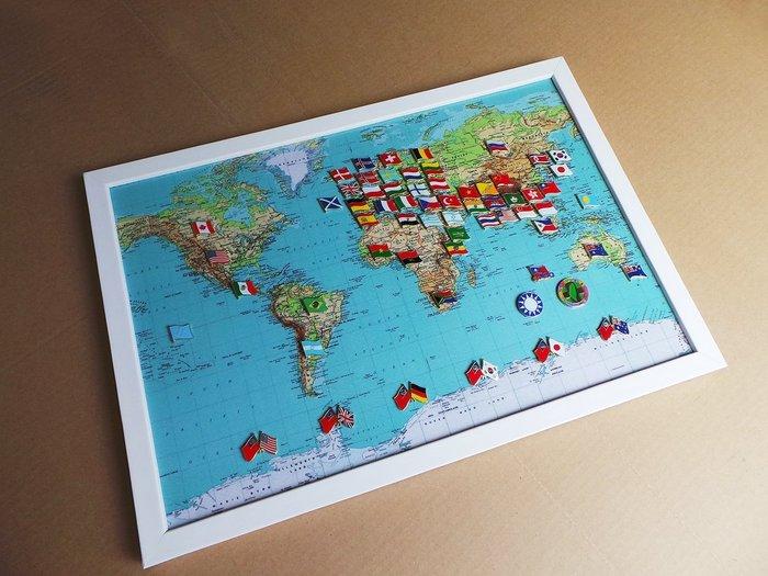 【國旗徽章達人】世界地圖國旗胸針組合/徽章/胸章/別針/勳章/獎章
