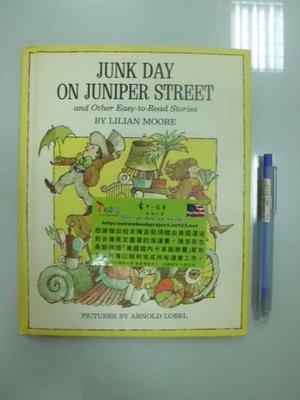 6980銤:A8-3☆1969年『JUNK DAY ON JUNIPER STREET』原文 英文童書繪本